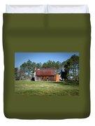 Barn With Tree In Silo Duvet Cover by Douglas Barnett
