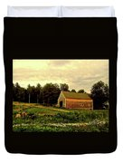 Barn With Wildflowers Duvet Cover