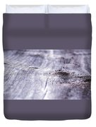 Barn Wood Abstract Duvet Cover
