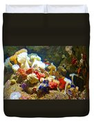 Barnacles And Sea Urchin Among Invertebrates In Monterey Aquarium-california  Duvet Cover