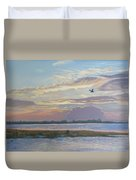 Barnegat Bay At Sunset Duvet Cover