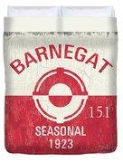 Barnegat Beach Badge Duvet Cover