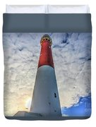Barnegat Lighthouse In The Clouds Duvet Cover