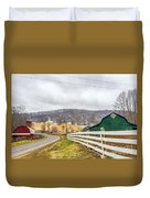 Barns And Mountains Duvet Cover