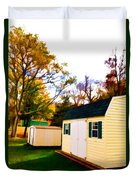 Barns In Autumn Duvet Cover