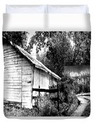 Barns In Black And White Duvet Cover