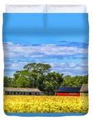 Barns In The Distance Duvet Cover