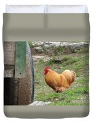 Barnyard Chicken Duvet Cover