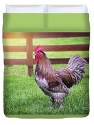 Barnyard Rooster Duvet Cover