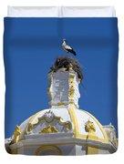 Baroque Church And Storks Nest Duvet Cover