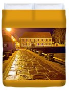 Baroque Town Of Varazdin Square At Evening Duvet Cover