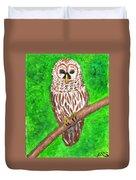 Barred Owl 08-18-2015 Duvet Cover