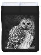 Barred Owl Beauty Duvet Cover