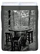 Barrel In The Woods Duvet Cover