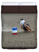 Barrel Racer Two Duvet Cover