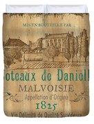 Barrel Wine Label 2 Duvet Cover