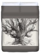 Barringtonia Tree Duvet Cover