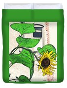 Barrio Sunflower Duvet Cover by Sarah Loft
