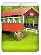 Barron's Covered Bridge Duvet Cover