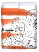 Barry Sanders Jr Duvet Cover