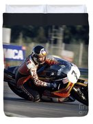 Barry Sheene. 1978 Nations Motorcycle Grand Prix Duvet Cover