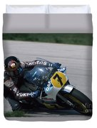 Barry Sheene. 1984 Nations Motorcycle Grand Prix Duvet Cover