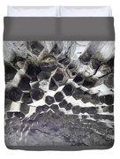 Basalt Rock Columns Formations Duvet Cover