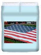 baseball all-star game American flag Duvet Cover