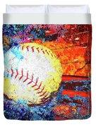 Baseball Art Version 6 Duvet Cover