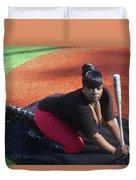 Baseball Girl 3 Duvet Cover