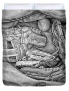Baseball Gloves Bw Duvet Cover