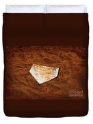 Baseball Homeplate In Brown Dirt For Sports American Past Time Duvet Cover