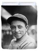 Baseball Mascot Eddie Bennett Duvet Cover