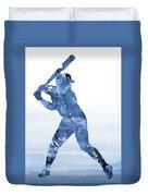 Baseball Player-blue Duvet Cover