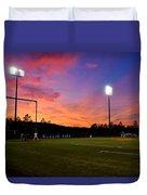 Baseball Sunset Duvet Cover