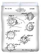 Baseball Training Device Patent 1961 Duvet Cover