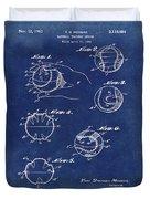 Baseball Training Device Patent 1961 Blue Duvet Cover