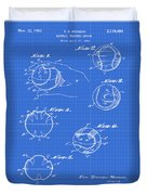 Baseball Training Device Patent 1961 Blueprint Duvet Cover