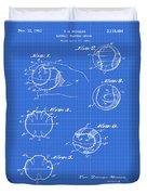 Baseball Training Device Patent 1961 Blueprint Duvet Cover
