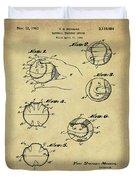 Baseball Training Device Patent 1961 Sepia Duvet Cover