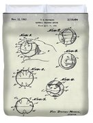 Baseball Training Device Patent 1961 Weathered Duvet Cover