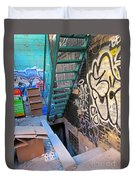 Basement Apartment In Graffiti Alley Duvet Cover