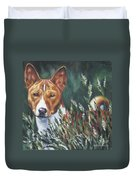 Basenji In Grass Duvet Cover