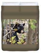 Bashful Black Bear Duvet Cover
