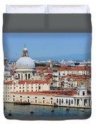 Basilica Della Salute And Punta Della Dogana In Venice Italy Duvet Cover