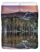 Basin Lake Sunset Duvet Cover
