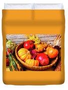 Basket Full Of Autumn Duvet Cover