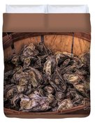 Basket Full Of Oysters Duvet Cover