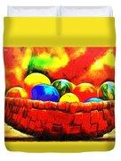 Basket Of Eggs - Pa Duvet Cover