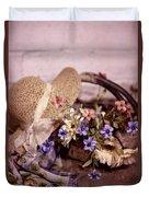 Basket Of Flowers Duvet Cover